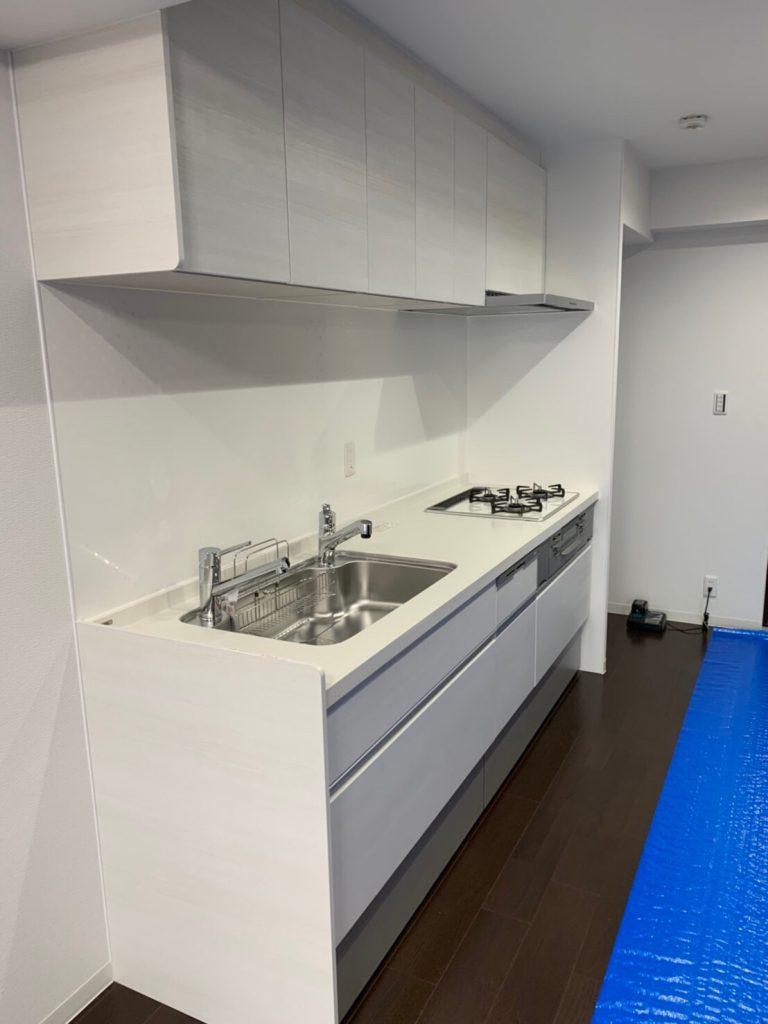 キッチン移設 半スケルトン仕上げ 全面改装