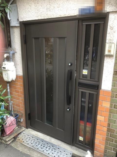 玄関ドア交換工事 カバー工法で費用も安く工期も1日