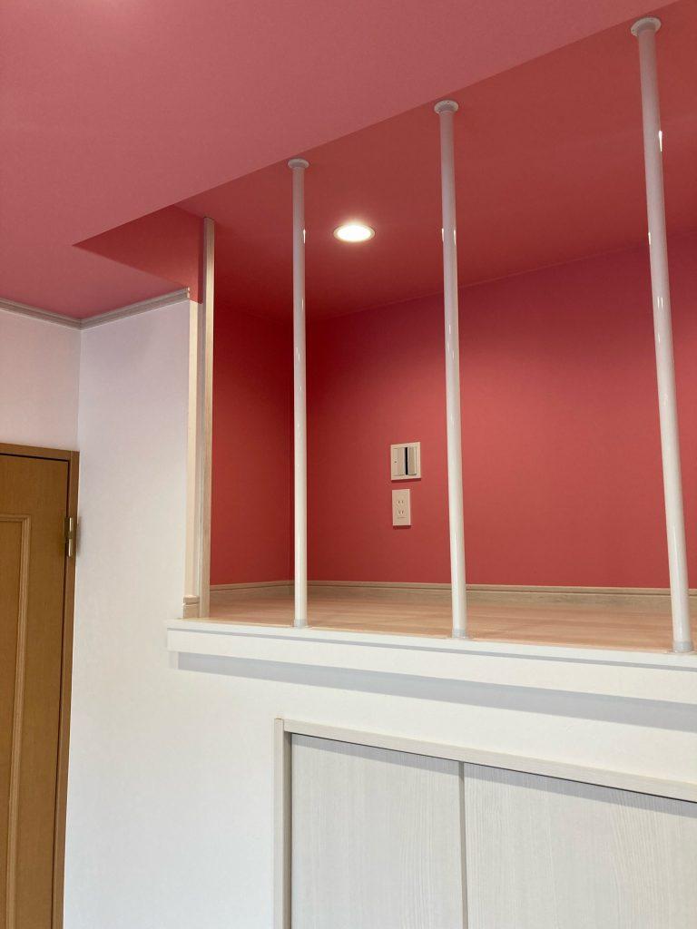 1階にロフトを新設!照明も一新で広々空間に
