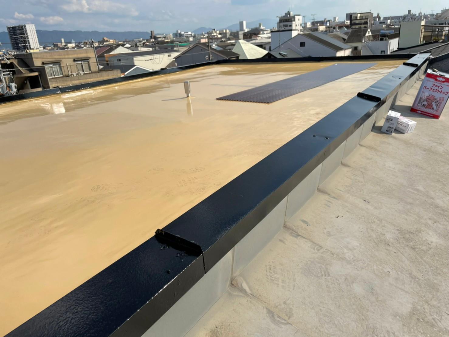 屋上防水工事(通気緩衝工法)